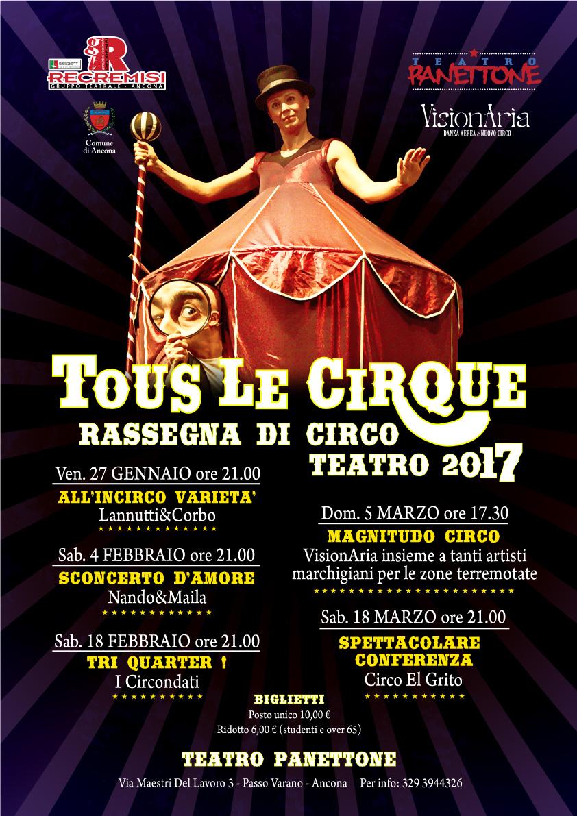 locandina rassegna di circo